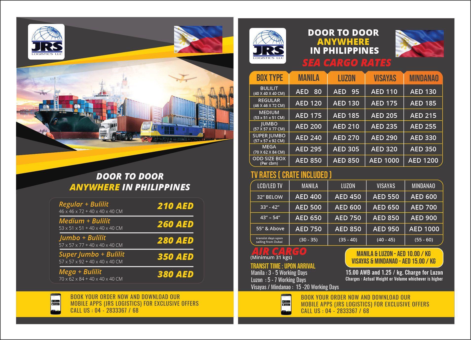 JRS Logistics Air Promo